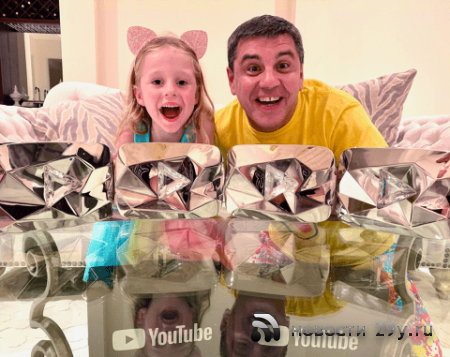 Пятилетняя девочка из России заработала на ютубе 18 миллионов долларов