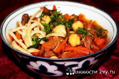Лагман простой рецепт приготовления из говядины с фото
